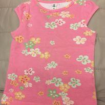 Blusa rosa floral - 4 anos - Green