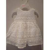 Vestido branco pérola com calcinha e tiara (conjunto)  - The Children`s Place - 0 a 3 meses - The Children`s Place