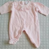 Lindo conjunto saída de maternidade menina com 2 peças: macacão e manta. - Recém Nascido - Mundo do Faz de Conta