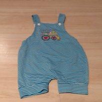 Jardineira listrada - 3 a 6 meses - Maianny Baby (Produto importado)