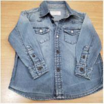 Camisa jeans manga comprida - 12 a 18 meses - Baby Club