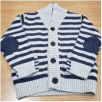 Casaquinho listrado de tricô - 18 a 24 meses - Baby Club
