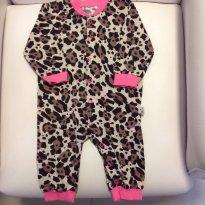 Pijama de oncinha flanelado quentinho - Hering baby - 6 a 9 meses - Hering Baby