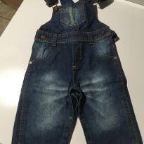 Jardineira jeans - 18 a 24 meses - Marca não registrada