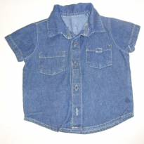 camisa jeans - 3 a 6 meses - Milk & Co