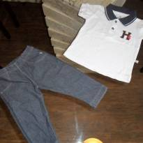 Calça + polo hering - 9 a 12 meses - Hering Kids