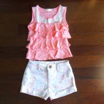 Conjunto Infanti short florido - 6 anos - Infanti
