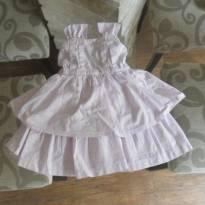 Vestido lilás claro - 9 a 12 meses - Sem marca