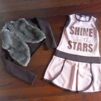 Vestido + bolero tam 06 - 6 anos - Infanti