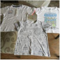 Lote 3 camisetas - 2 anos - Milon e Baby Club