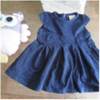 vestido azul - 3 meses - Time kids
