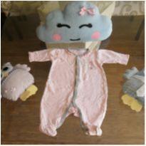 Macacão malha - 3 meses - Tilly Baby