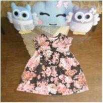 Vestido florido - 6 a 9 meses - DILA