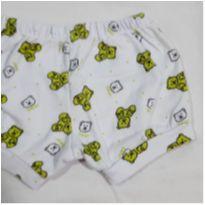 Shorts branco urso - 9 a 12 meses - Top  Chot