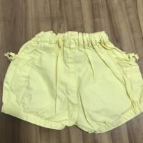 Short amarelo - 1 ano - Baby Club