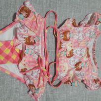 Biquini Rosa com babadinho - 2 anos - Maglian Baby