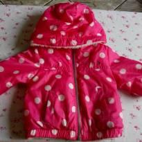 casaco luxo tommy hilfiger original dupla face peluciado e poá pink com branco