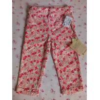 calça floridinha teddy boom - nunca usada-