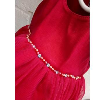 Vestido de festa Paraíso vermelho - 3 a 6 meses - Paraíso