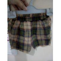 Shorts xadrez Green bebê ❤️ - 0 a 3 meses - Green