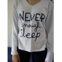 Camiseta manga longa pijama - desapego da Malu ❤️ - 13 anos - Não informada