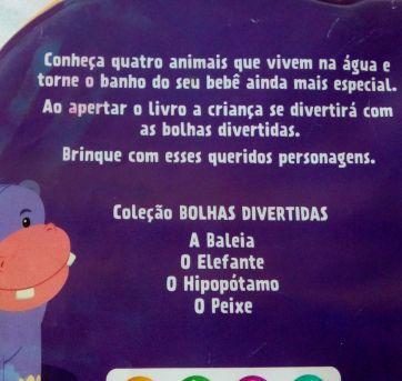 Livro de banho O HIPOPÓTAMO - Sem faixa etaria - Não informada