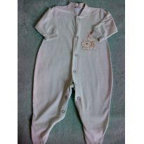 Macacão manga longa baby - 0 a 3 meses - Não informada
