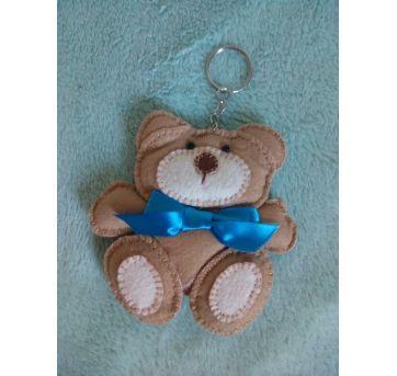 Chaveiro ursinho em feltro - Sem faixa etaria - Feito à mão
