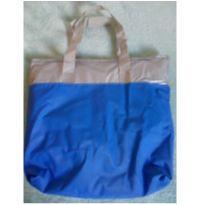 Bolsa térmica azul e prata -  - Não informada
