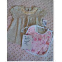 Camiseta mescla banana Teddy Boom grátis babador novinho Castelo de Princesa - 3 a 6 meses - Papi e Teddy Boom
