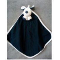 Naninha dog azul e branco com chocalhinho no cachorro e prendedor de chupeta -  - Não informada