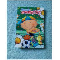 Bloquinho de anotações menino e sua bola de futebol -  - Não informada