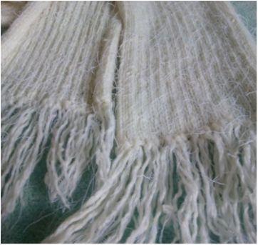 Cachecol branco - Sem faixa etaria - Feito à mão
