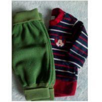 Calça Teddy Boom e blusa em fleece BB - 0 a 3 meses - Carrefour e Teddy Boom