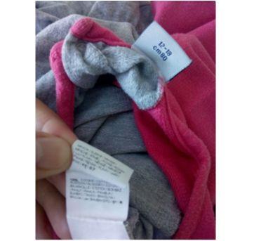 Macacão cinza e rosa - 12 a 18 meses - Não informada