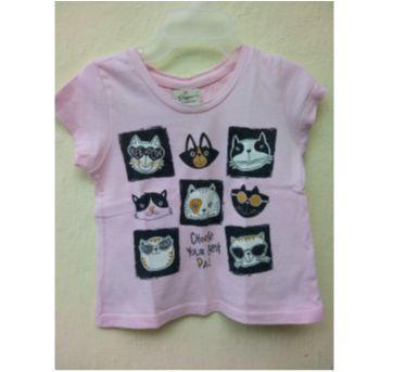 Camiseta gatinhos Poim - 1 ano - Renner