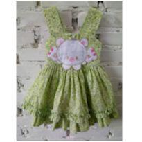 Vestido baby Cattai florido - 0 a 3 meses - Cattai