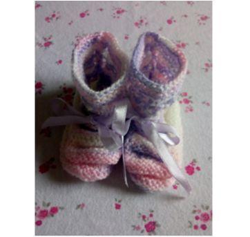 Sapato de lã nenê - Sem faixa etaria - Feito à mão