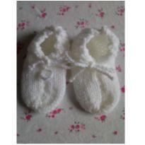 Sapato de lã branco -  - Feito à mão