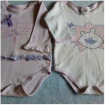 Bodys meninas com marcas de uso - 6 a 9 meses - Bicho Molhado