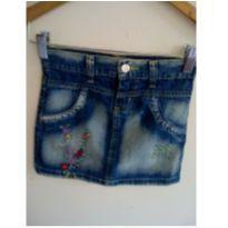 Saia jeans meninas com florzinhas - 8 anos - Review
