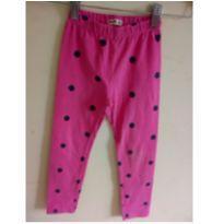 Calça legging rosa com bolinhas - 4 anos - Yeaqp