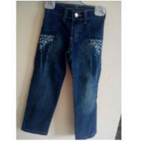 Calça jeans meninas com florzinhas - 4 anos - Julian Kids