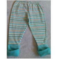 Calça listrada baby - 6 a 9 meses - Não informada