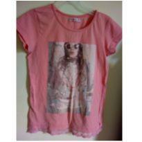 Um beijinho pra você! ;) Camiseta meninas - 8 anos - Fuzarka