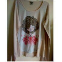 Camiseta manga longa Garota elegante - 14 anos - Não informada