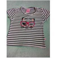 Camiseta listrada gato de óculos - 2 anos - Abrange