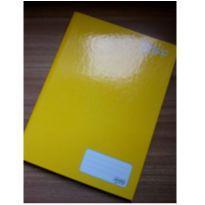 Caderno capa dura amarelo brochura -  - Não informada
