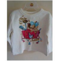 Blusa de moletom Brandili club estampa de gatinho que lembra papel de carta ;) ❤ - 3 anos - Brandili