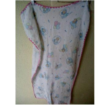 Toalha fralda com beirinha rosa - Sem faixa etaria - cremer